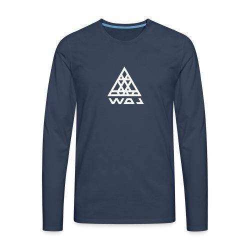Triangel Konst - Långärmad premium-T-shirt herr