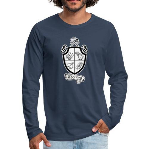 BBQ King - Maglietta Premium a manica lunga da uomo