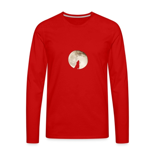 The wolf with the moon - T-shirt manches longues Premium Homme