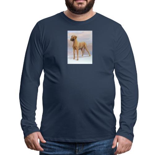 Great Dane Yellow - Herre premium T-shirt med lange ærmer