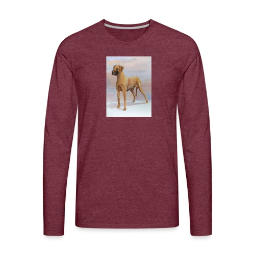 Great Dane Yellow - Herre premium T-shirt med lange ærmer