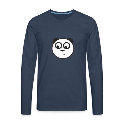 panda face /cara de panda - Camiseta de manga larga premium hombre