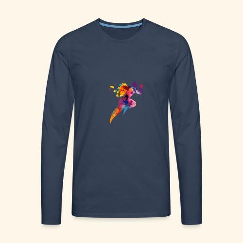 Running colores - Camiseta de manga larga premium hombre