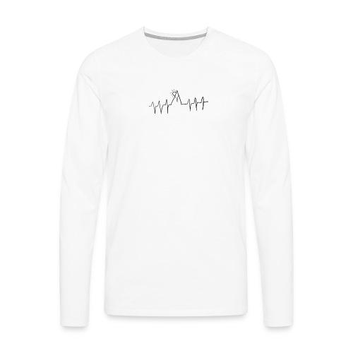 mountain heartbeat - Maglietta Premium a manica lunga da uomo