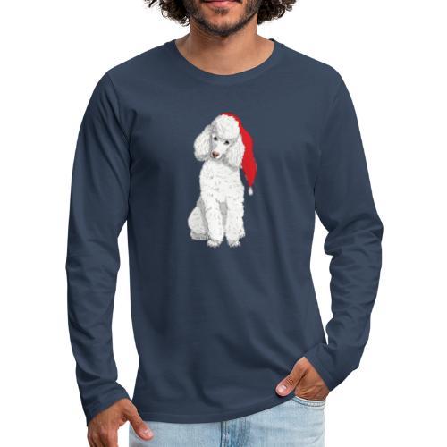 Poodle toy W - christmas - Herre premium T-shirt med lange ærmer