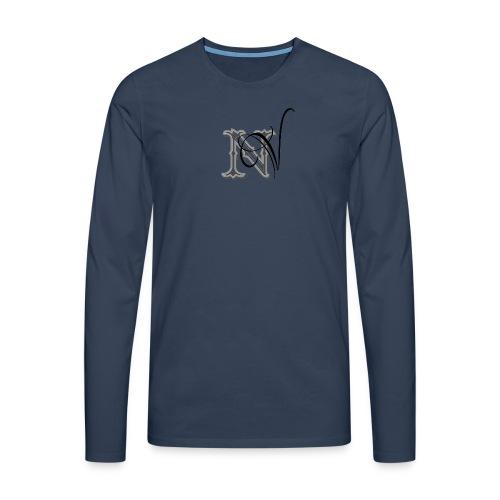 nV Collections - Maglietta Premium a manica lunga da uomo