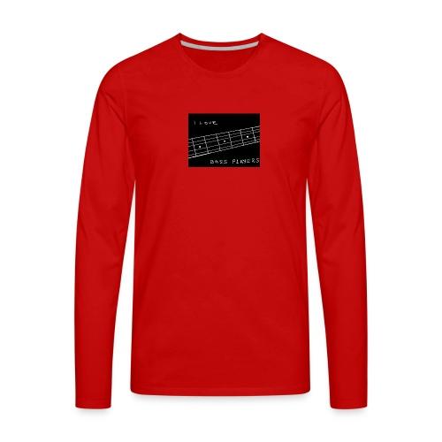 I Love Bass Players - Men's Premium Longsleeve Shirt