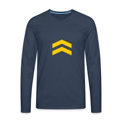 Alikersantti - Miesten premium pitkähihainen t-paita