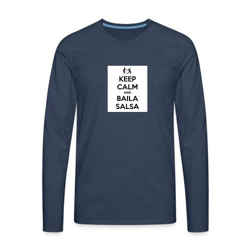 keep-calm-and-baila-salsa-41 - Maglietta Premium a manica lunga da uomo