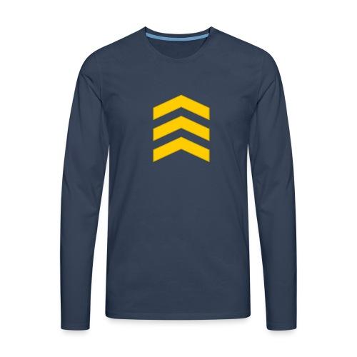 Kersantti - Miesten premium pitkähihainen t-paita