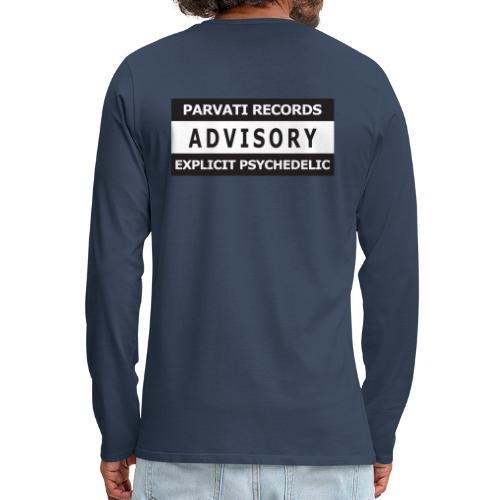 Advisory Explicit Psychedelic - Men's Premium Longsleeve Shirt