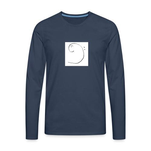 faccina basso - Maglietta Premium a manica lunga da uomo