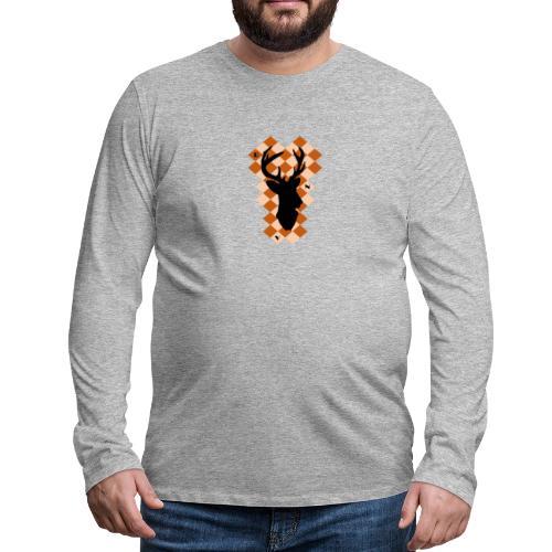 DeerSquare - Miesten premium pitkähihainen t-paita
