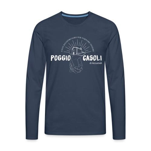 Poggio Casoli_Istituzionale_Bianco - Maglietta Premium a manica lunga da uomo