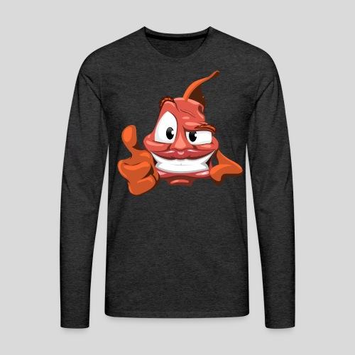 none - Herre premium T-shirt med lange ærmer