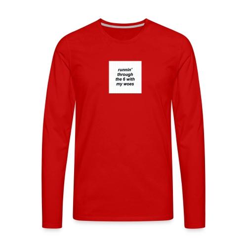 cap woes - Mannen Premium shirt met lange mouwen
