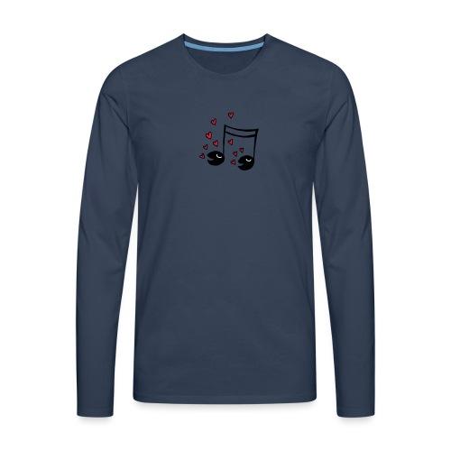Love tunes - Männer Premium Langarmshirt