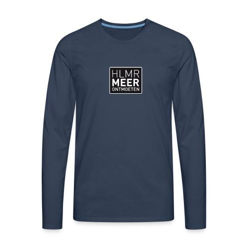 hlmr ontmoeten w op drukwer 500 - Mannen Premium shirt met lange mouwen