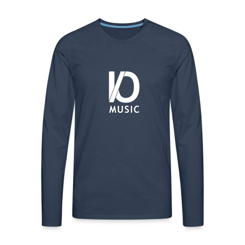 iomusic_white - Men's Premium Longsleeve Shirt