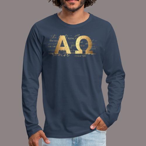 Alpha @ Omega - Männer Premium Langarmshirt