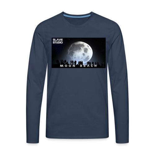 Moon beach - Maglietta Premium a manica lunga da uomo
