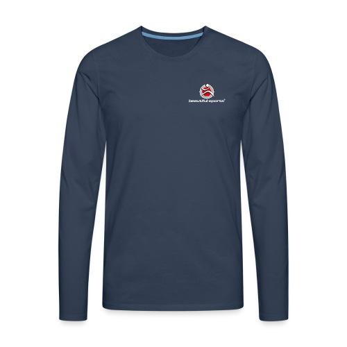 Logo weiss - Männer Premium Langarmshirt