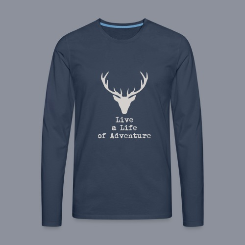 logo lalia hellbraun 3500px png - Männer Premium Langarmshirt