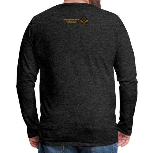 TIAN GREEN Welt Mosaik Shirt - Logo 2020 - Männer Premium Langarmshirt