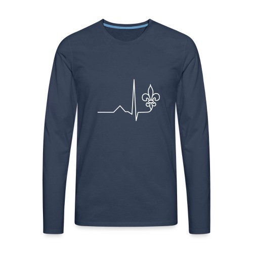 Scouts Heartbeat - Men's Premium Longsleeve Shirt