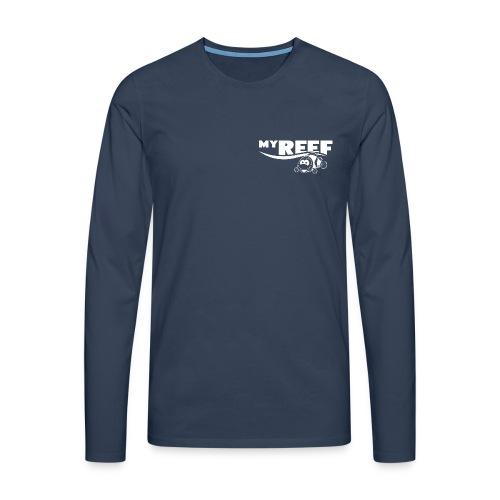 MyReef WhiteOnTransparent png - Mannen Premium shirt met lange mouwen