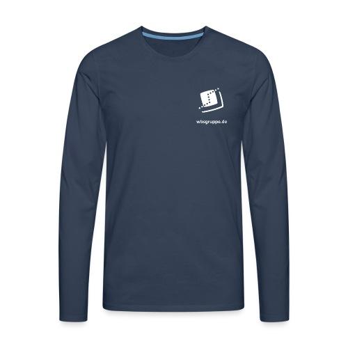 WBS Group Front white - Männer Premium Langarmshirt
