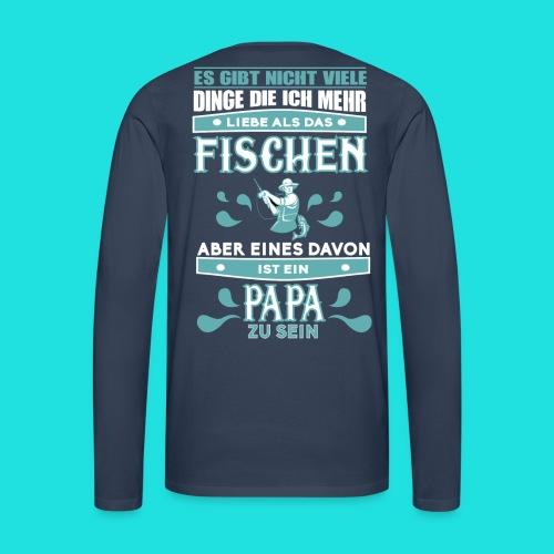 Papa-Fischer - Männer Premium Langarmshirt