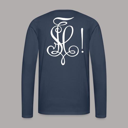 Zirkel, weiss (hinten) - Männer Premium Langarmshirt