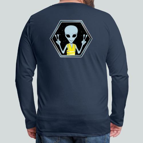 Extraterrestre Gilet jaune - T-shirt manches longues Premium Homme