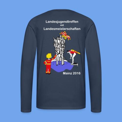 LM Logo vierfarbig weiß - Männer Premium Langarmshirt