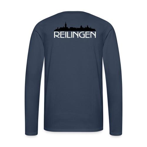 Reilinger Ortsshilhouette - Männer Premium Langarmshirt