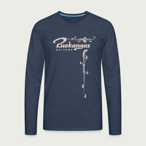 Vintage t shirt front - Men's Premium Longsleeve Shirt