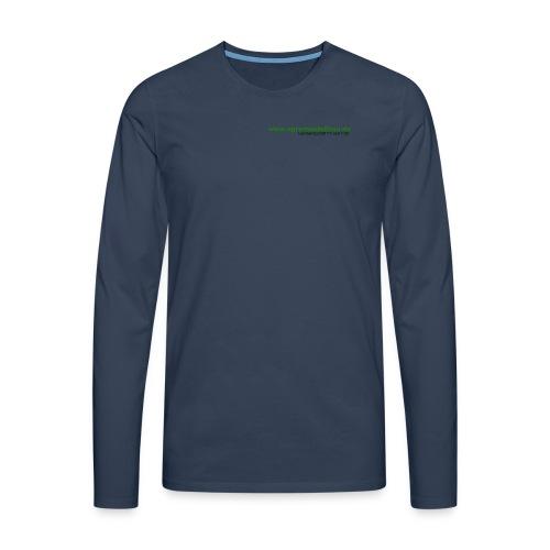 schriftzug trans - Männer Premium Langarmshirt