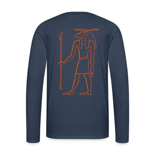 Ancien Dieu Egyptien - T-shirt manches longues Premium Homme