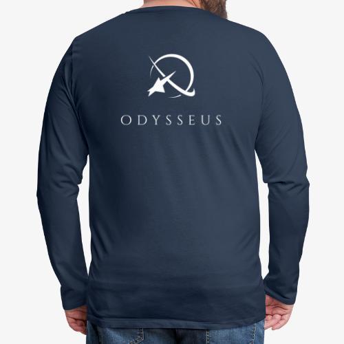 larplogo_noglow_text - Miesten premium pitkähihainen t-paita