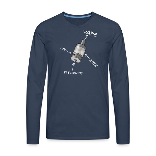 TShirt Ato blanc 1 png - T-shirt manches longues Premium Homme