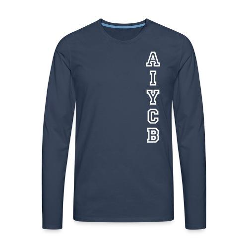 AIYCB_hochblauweissaufrot - Männer Premium Langarmshirt