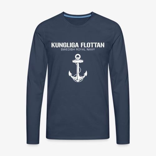 Kungliga Flottan - Swedish Royal Navy - ankare - Långärmad premium-T-shirt herr