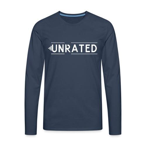 Unrated Logo - Männer Premium Langarmshirt
