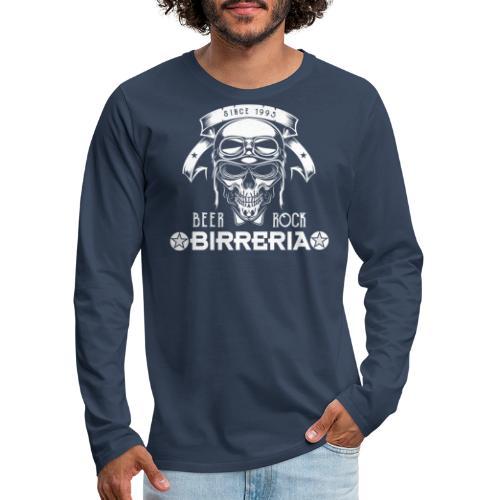 Classic Skull Beer & Rock - Männer Premium Langarmshirt