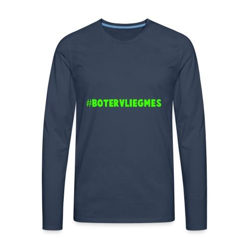 Botervliegmes hoodie (mannen) - Mannen Premium shirt met lange mouwen