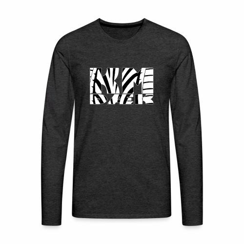 KM_white - Herre premium T-shirt med lange ærmer
