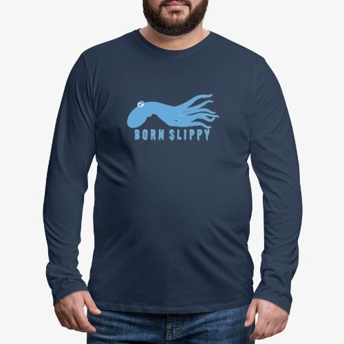 Slip On By - Långärmad premium-T-shirt herr