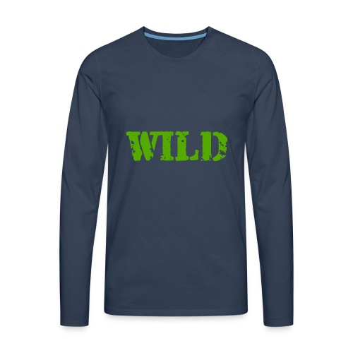 wild - Maglietta Premium a manica lunga da uomo