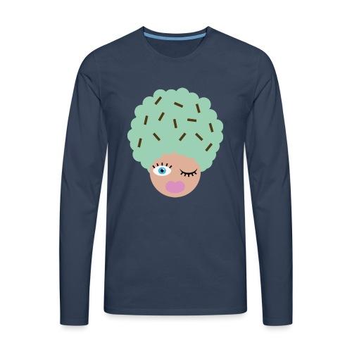 Ice cream - Herre premium T-shirt med lange ærmer